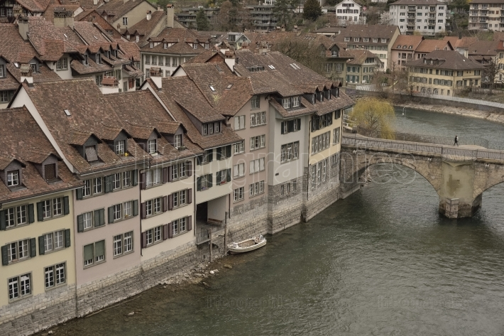 Part of untertorbrücke and old city of bern. switzerland.