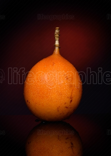 Passion fruit isolated on dark  background