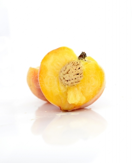 Peach  Fruit isolated on white background