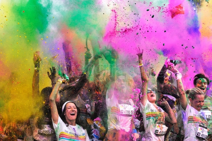 People at The Color Run