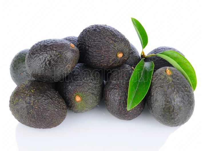 Pile of Hass Avocados