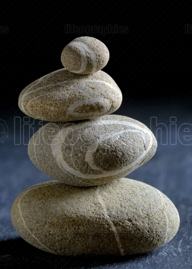 Pile of stones isolated