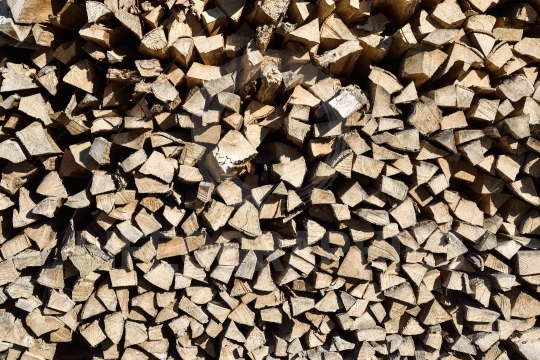 Pile of woodfire