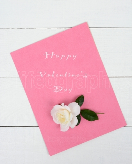Pink Valentine s Day Pad With Rose