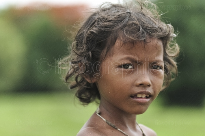 Poor cambodian kid