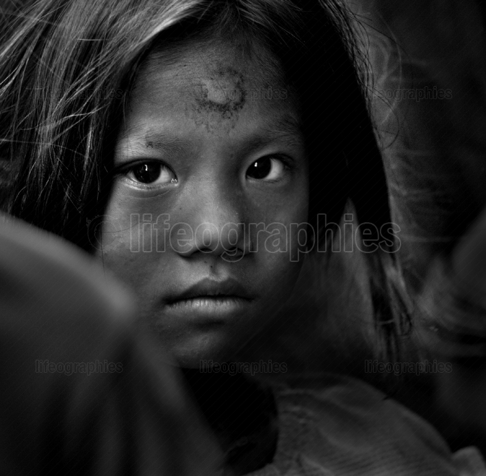 Poor children from Nepal