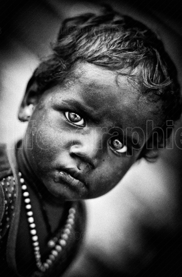 Poor kid from Varanasi, India