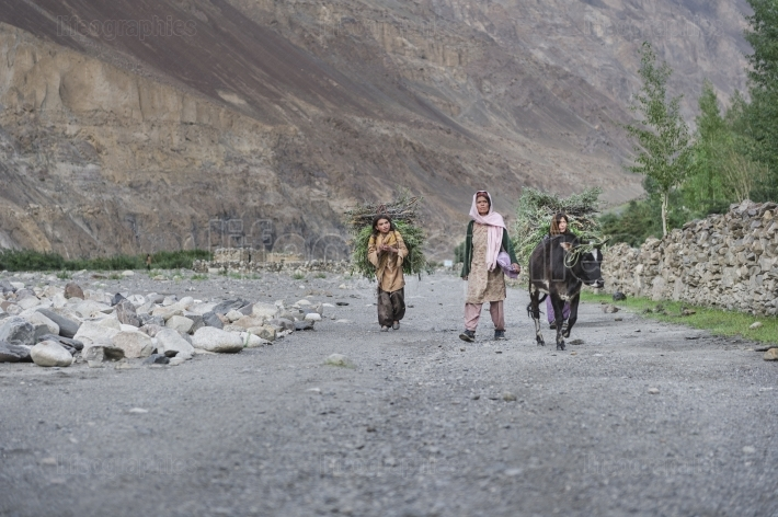 Poor people from Shimshal.