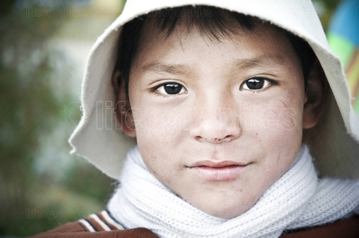 Portrait of a Peruvian boy