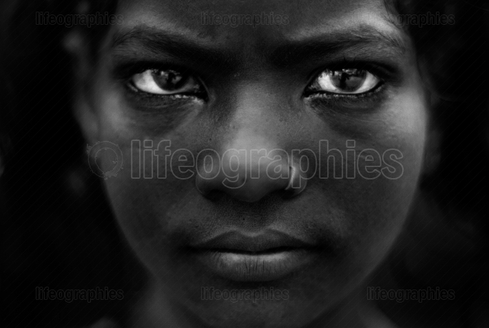 Portrait of a young indian girl