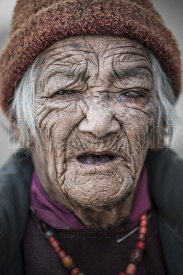 Portrait of an old lady