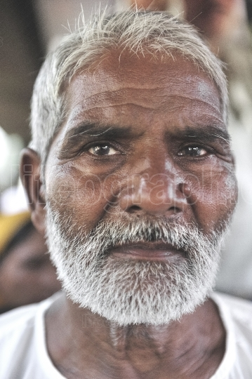 Portrait of an old man from Amritsar village