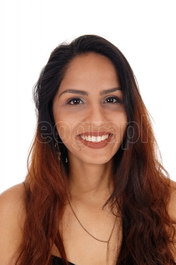 Portrait of lovely smiling young woman