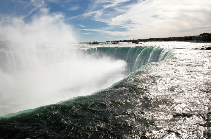 Power full Niagara Falls.
