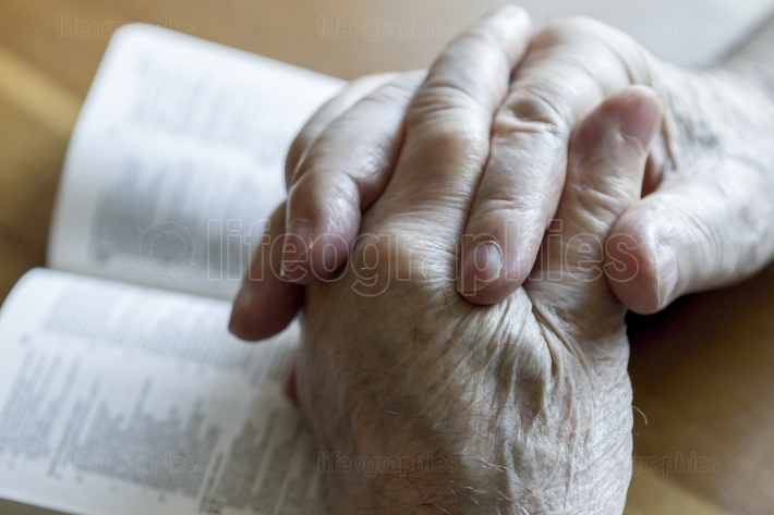 Praying Old Hands