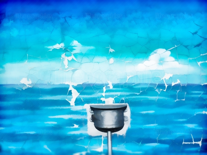 Pure water reservoir illustration background