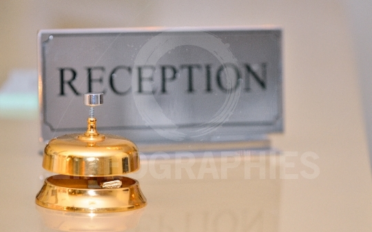Reception bell and card sign