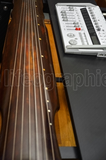 Recorder and Guqin instrument