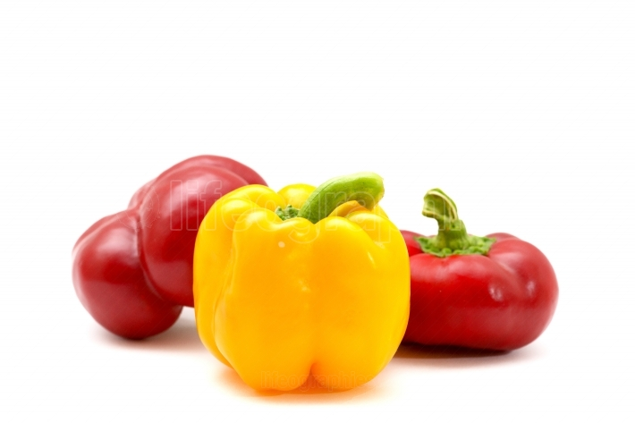Red and yellow sweet pepper