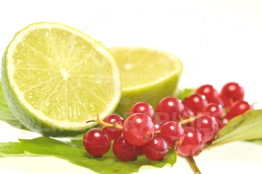 Red currant and lemon
