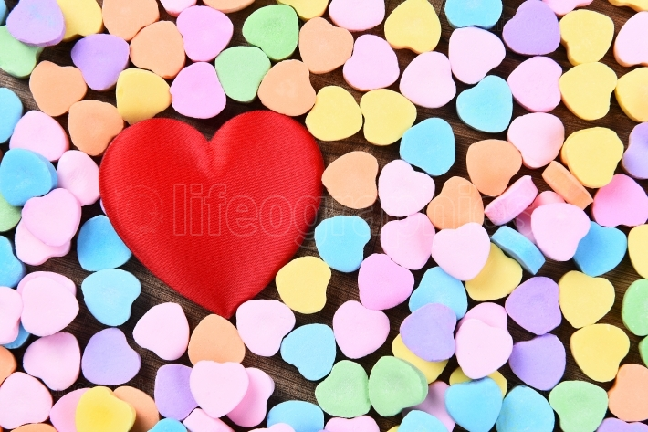 Red Heart and Candy Hearts