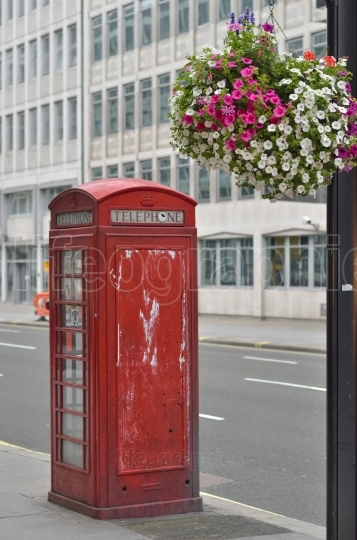 Red phone box, london