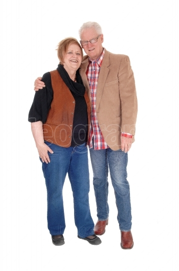 Relaxed senior couple standing