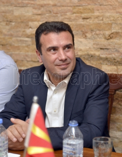 RESEN, MACEDONIA   SEPTEMBER 25, 2017  Zoran ZAEV, Prime Minister of Macedonia and leader of the Social Democratic Union of Macedonia