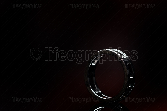 Ring isolated on black background