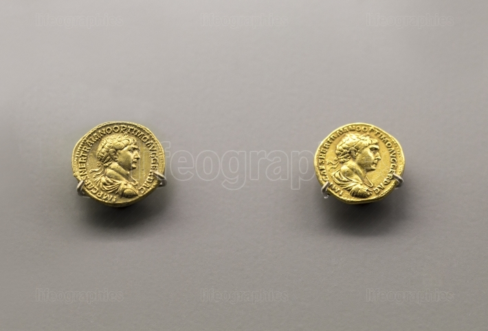 Roman Imperial coins bearing the bust of Emperor Traianus