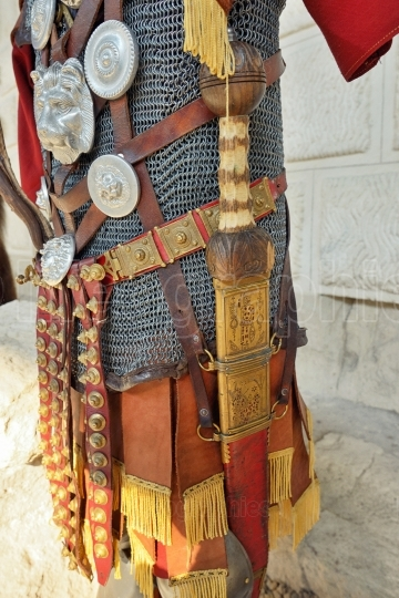 Roman warrior iron armor