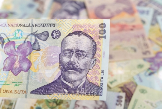 Romanian banknote of 100
