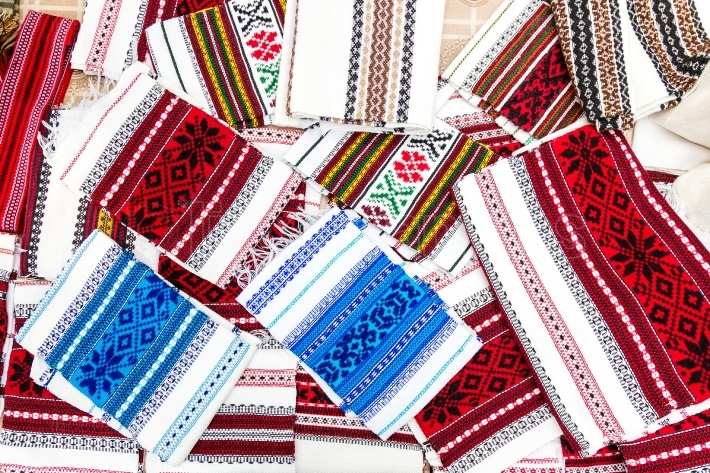 Romanian traditional embroidery  Ethnic texture design  Rustic t
