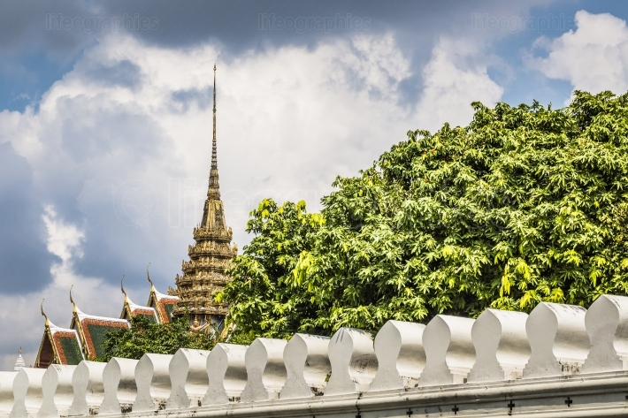 Roof in Grand Palace, Bangkok, Thailand.