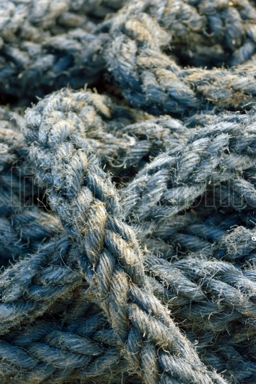 Rope detail, closeup