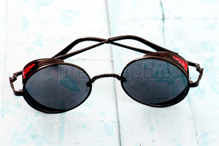 Round polarized retro sunglasses,