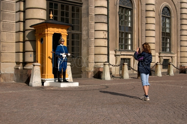 Royal Guard and  the Tourist