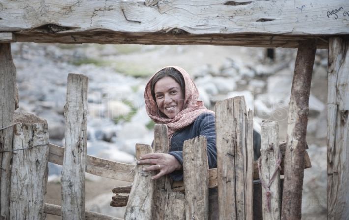 Sajida, a young and happy girl from upper shimshal.