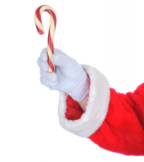 Santa Claus arm with Candy Cane