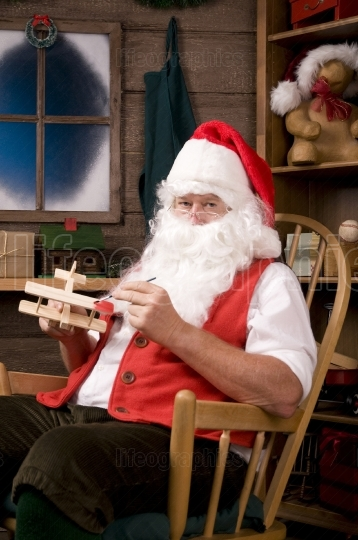 Santa Claus in Workshop