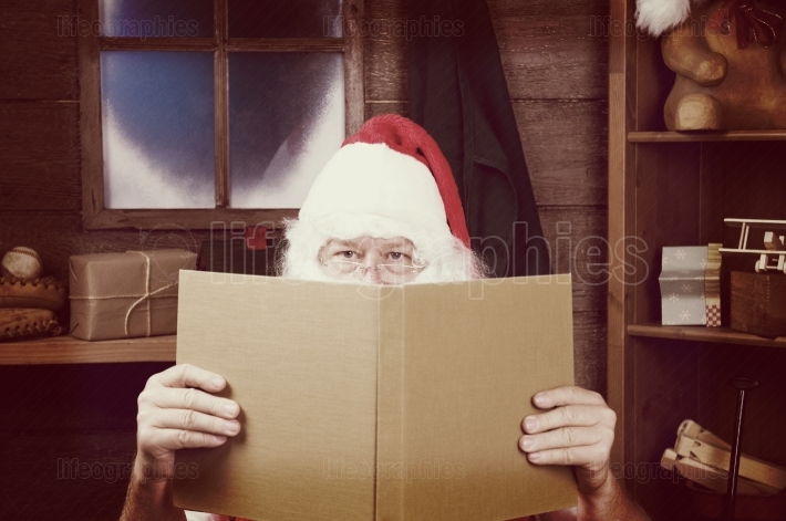 Santa With Large Book Instagram look