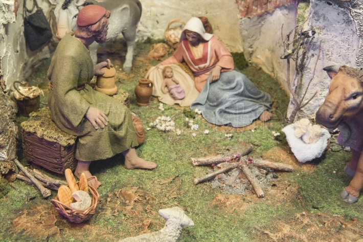 Scene of christmas crib