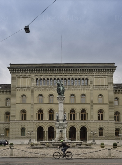 Secondary wing of the bundeshouse (switzerland parliament) from bundesplatz bern. switzerland