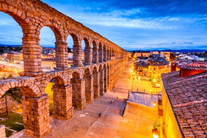 Segovia, spain - castilla y leon, the aqueduct