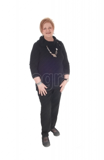 Senior citizen woman standing smiling
