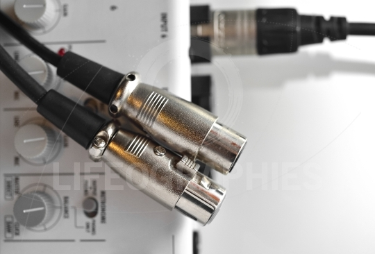 Set of XLR audio digital cables