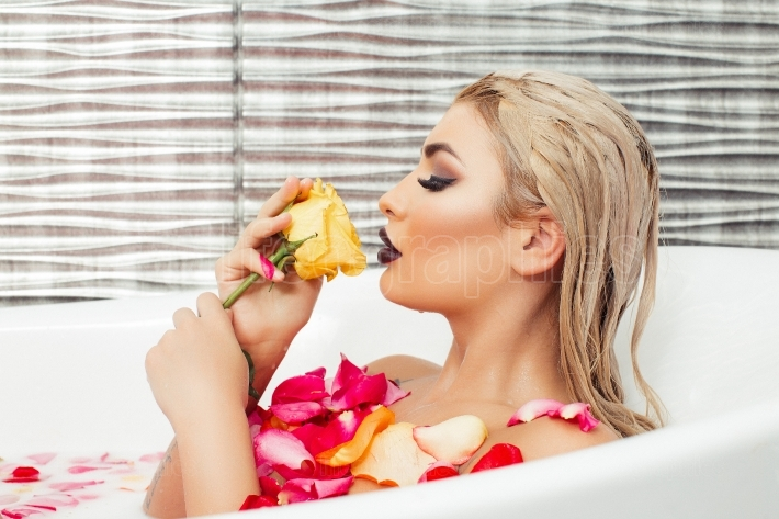 Sexy woman in bathtub