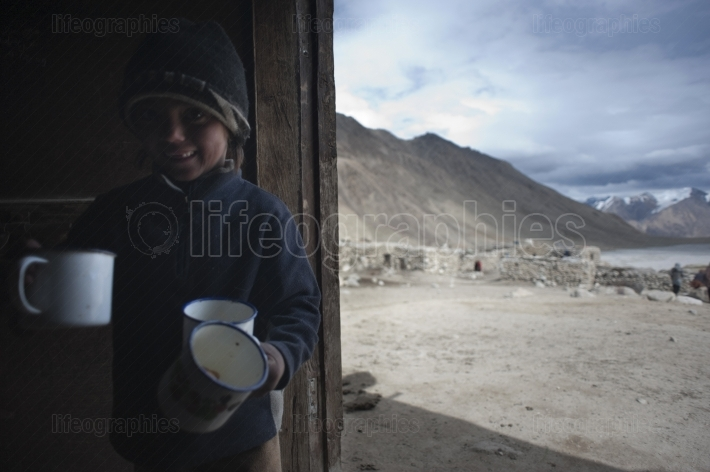 Shaina. A young girl from upper shimshal during day duty
