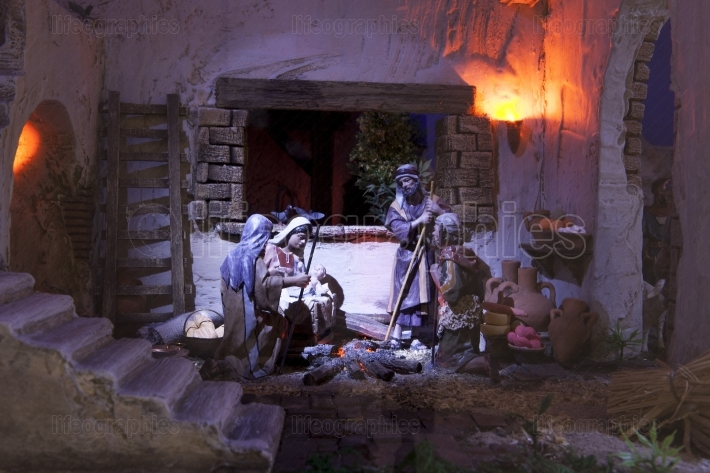 Shepherds adoration  Christmas Manger
