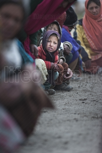 Shimshali hakima young girl during ismail muslim procession of gratitude to the gods